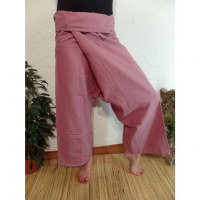 Pantalon Thaï Bang Saen vieux rose