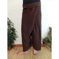 Pantalon Thaï Bang Saen chocolat