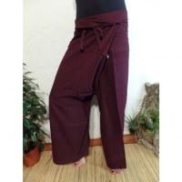 Pantalon Thaï Bang Saen prune