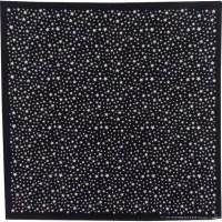 Bandana noir et blanc étoiles