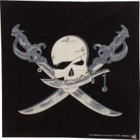 Bandana tête de pirate aux sabres