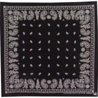 Bandana noir et blanc arabesque