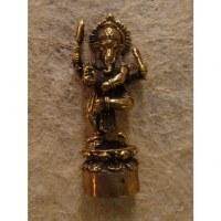 Miniature Ganesh et le serpent Kalinga couleur laiton