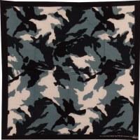 Bandana bleu camouflage