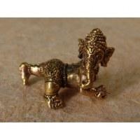 Miniature du dieu Ganesh à 4 pattes couleur bronze antique