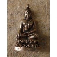 Miniature Bouddha bhumispashamudra gris