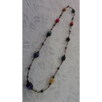 Collier perles madera color