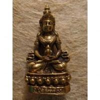 Miniature dorée de Bouddha vairocana