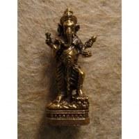 Miniature dorée Ganesh et les divinités
