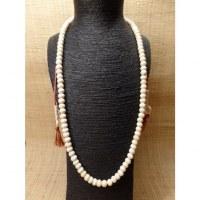 Mala 88 cm perles en os blanc