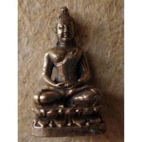 Miniature Bouddha méditatif couleur argent