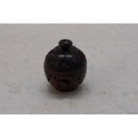 Mini-boîte en bois sculpté fleur de pommier 2