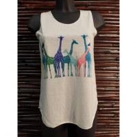 Débardeur le troupeau de girafes