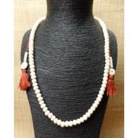 Mala 68 cm perles en os blanc
