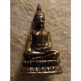 Miniature Bouddha assis main touchant la terre