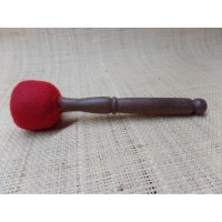 Petit bâton bois/feutre bol chantant/gong