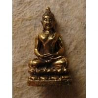 Miniature Bouddha méditatif couleur dorée