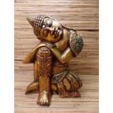 Sculpture dorée Bouddha zen