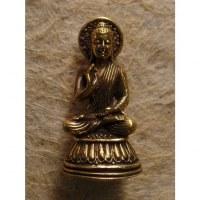 Miniature dorée Bouddha abhayamudrâ