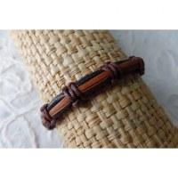 Bracelet sempit cuir coton 1