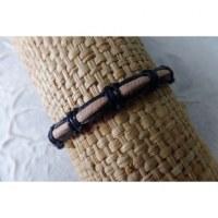 Bracelet sempit cuir coton 2