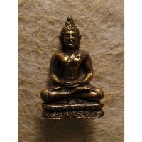 Miniature dorée de Bouddha Dhyani-Mudra