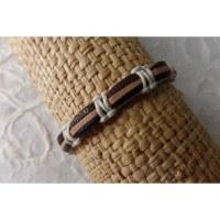 Bracelet sempit cuir coton 3