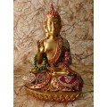 Bouddha et Ganesh en résine/pierre reconstituée