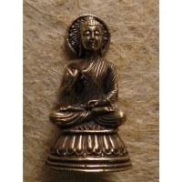 Miniature argentée Bouddha abhayamudrâ