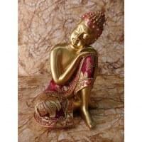 Bouddha doré tête penchée