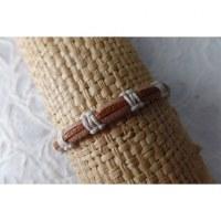 Bracelet sempit cuir coton 6