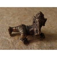 Miniature du dieu Ganesh à 4 pattes couleur argent