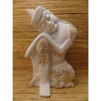 Sculpture blanche Bouddha