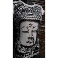 Tee shirt rose pâle Bouddha Angkor