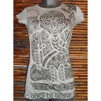 Tee shirt gris tattoo Ganesh