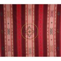 Tenture Chitwan rouge/rose double dorjés éléphant