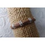 Bracelet sempit cuir coton 12