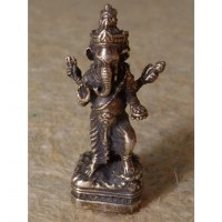 Miniature argentée Ganesh et les divinités
