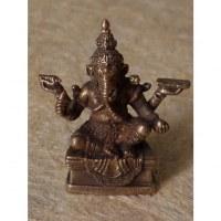 Miniature du dieu Ganesh assis couleur argent