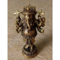 Miniature du dieu Ganesh debout doré