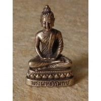 Miniature argentée Bouddha Amitabha