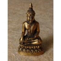 Miniature Bouddha bhumispashamudra couleur bronze