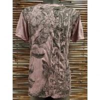 Tee shirt butterfly Bouddha prune