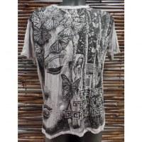 Tee shirt butterfly Bouddha gris acier