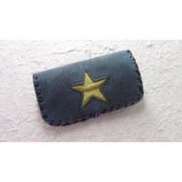 Blague à tabac bleue étoile jaune