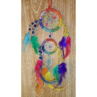 Dreamcatcher 2 cercles arc en ciel