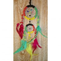 Dreamcatcher 2 cercles rasta