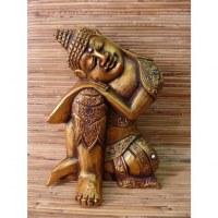Sculpture Bouddha doré zen
