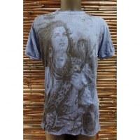 Tee shirt bleu foncé Shiva