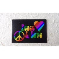 Aimant peace and love color